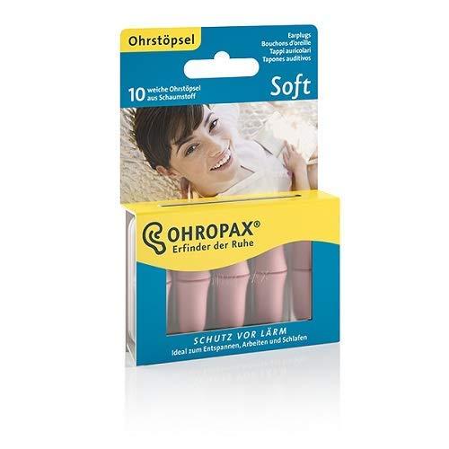 OHROPAX - Soft - Ohrstöpsel - 1x 10 Stück - Wiederverwendbare In-Ohr-Stöpsel...