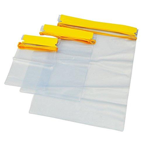 Meetory 3 x PVC Pouch Dokumentenbeutel Wasserdicht, Wasserdichte Taschen für...