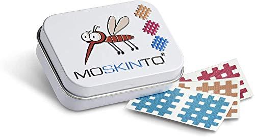 MOSKINTO Mückenpflaster Familienpackung mit 42 bunten Pflaster in der Dose...
