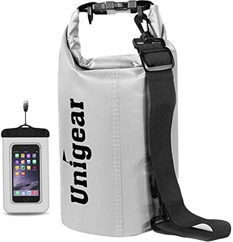 Unigear Dry Bag, Wasserdicht Taschen mit Handytasche und Gurte für Boot und...