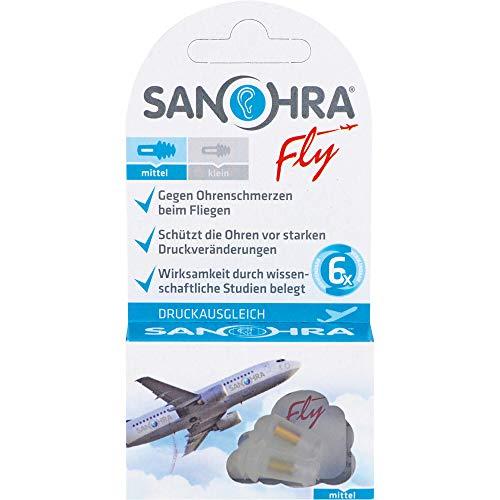 SANOHRA fly gegen Ohrenschmerzen beim Fliegen Ohrenschutz mittel, 2 St....