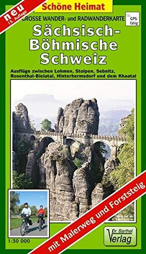 Doktor Barthel Wander- und Radwanderkarten, Sächsisch-Böhmische Schweiz,...