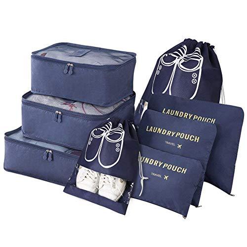 Vicloon Gepäck Organizer, 8-in-1-Set Koffer Organizer umfassen 2 * Schuhbeutel,...