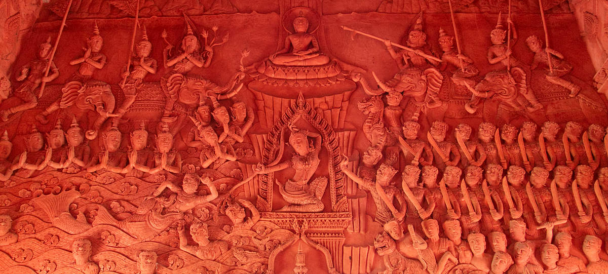 Wat-Ratchathammaram-Tempel-Verzierungen