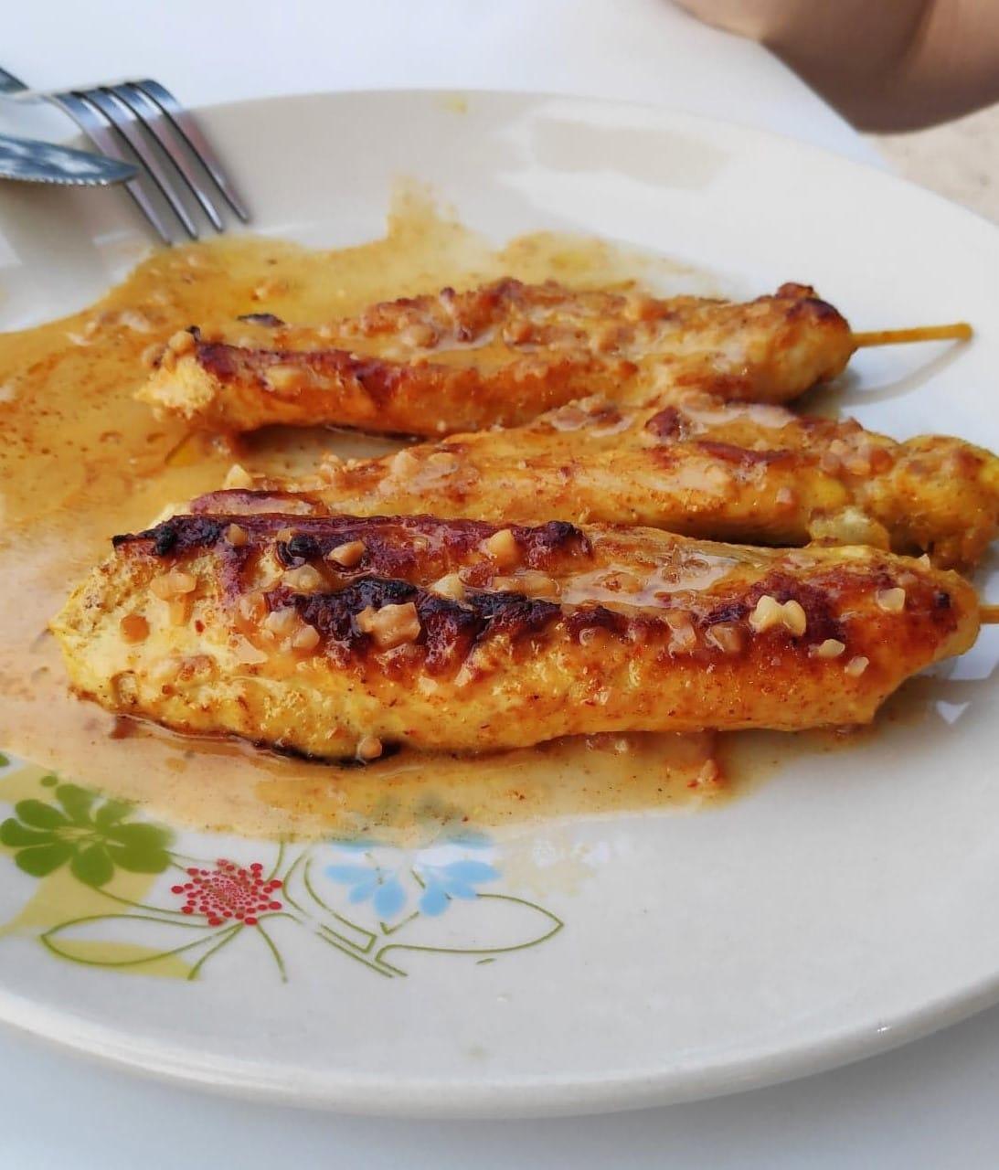 Hähnchenspieße-Essen-Thailand