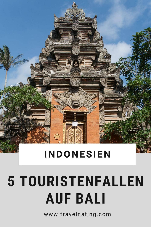 Touristenfallen auf Bali - Pinterest Pin