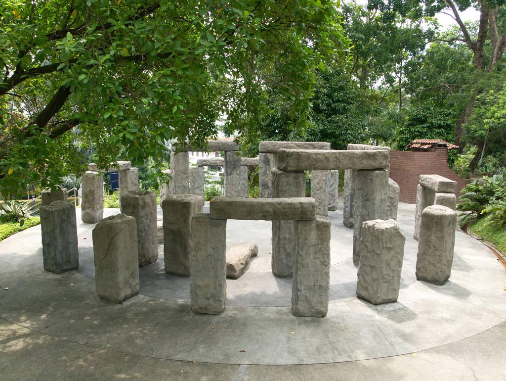 Kuala-Lumpur-Botanischer-Garten-Steine