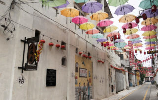 Market Lane Ipoh - Bunte Regenschirme