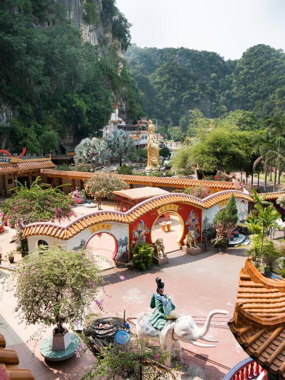 Ling Sen Tong Tempel Aussicht