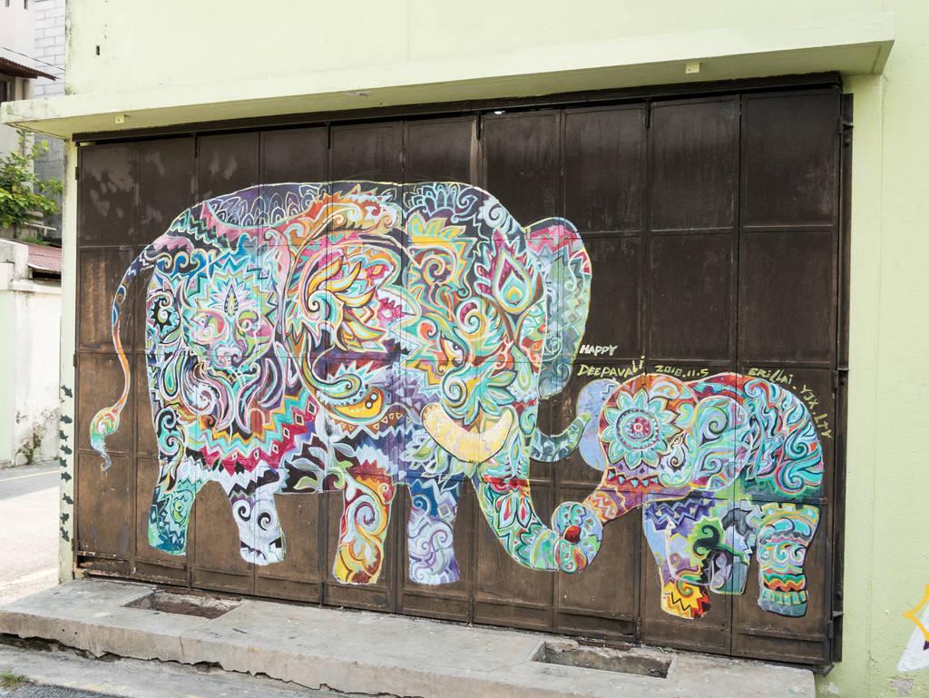 Street Art Ipoh Elefanten
