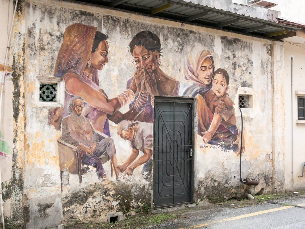 Street Art Ipoh Familie