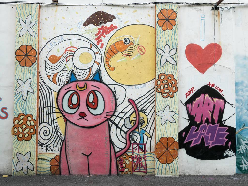 Street Art Ipoh Katze