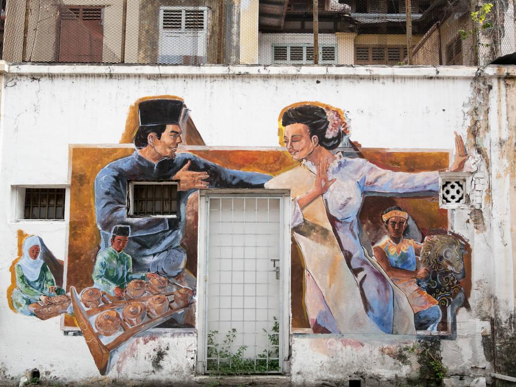Street Art Ipoh Tanzendes Paar
