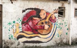 Street Art Ipoh Singende Frau