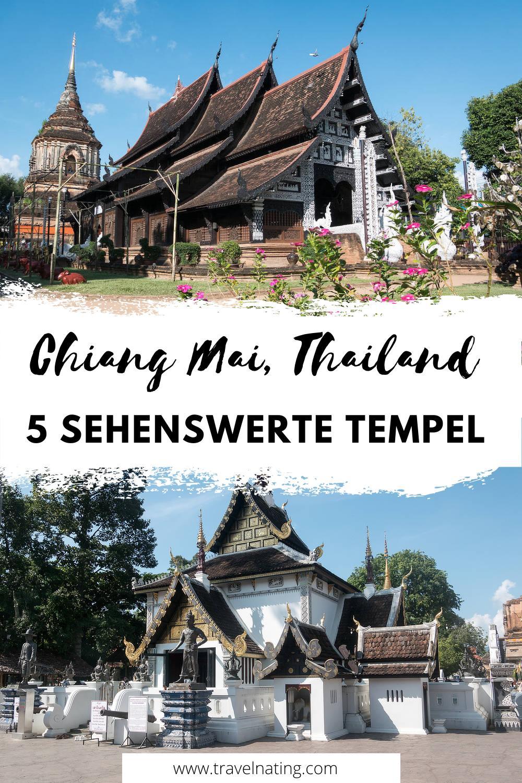 Chiang Mai Tempel - Pinterest Pin