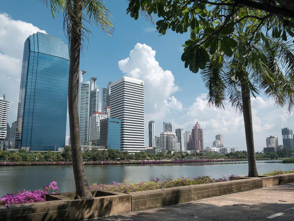 Benjakitti Park Bangkok Skyline