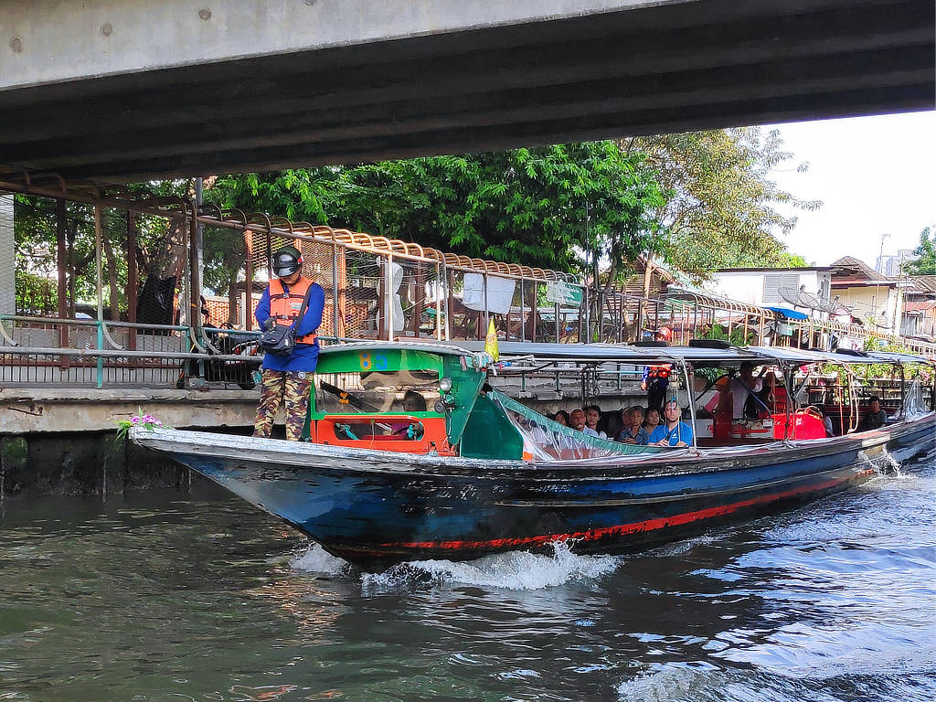 Boot fahren in Bangkok