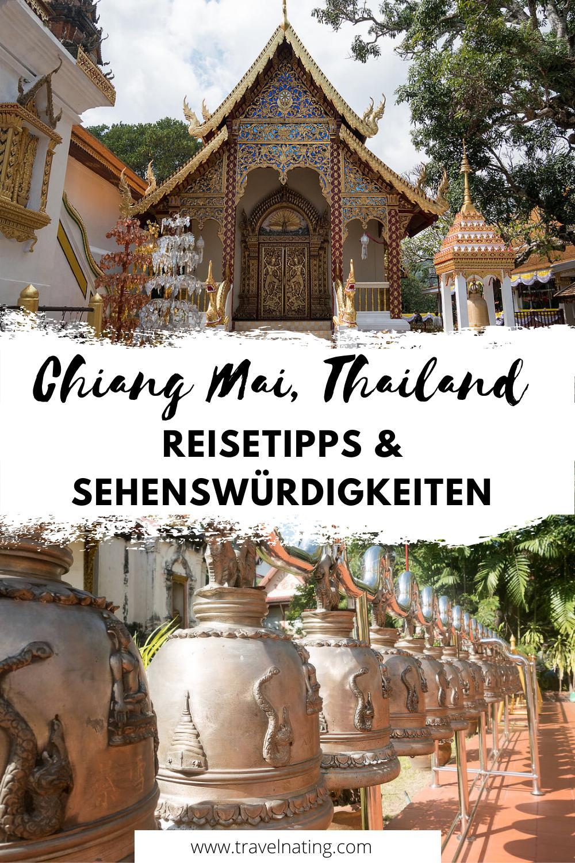 Chiang Mai Reisetipps und Sehenswürdigkeiten - Pinterest Pin