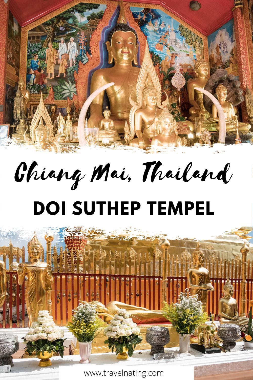 Doi Suthep Tempel, Chiang Mai - Pinterest Pin