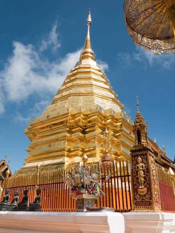 Wat Phra That Doi Suthep Tempel - goldene Chedi