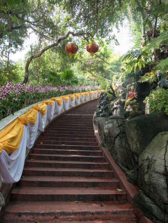 Wat Saket - Treppe nach oben