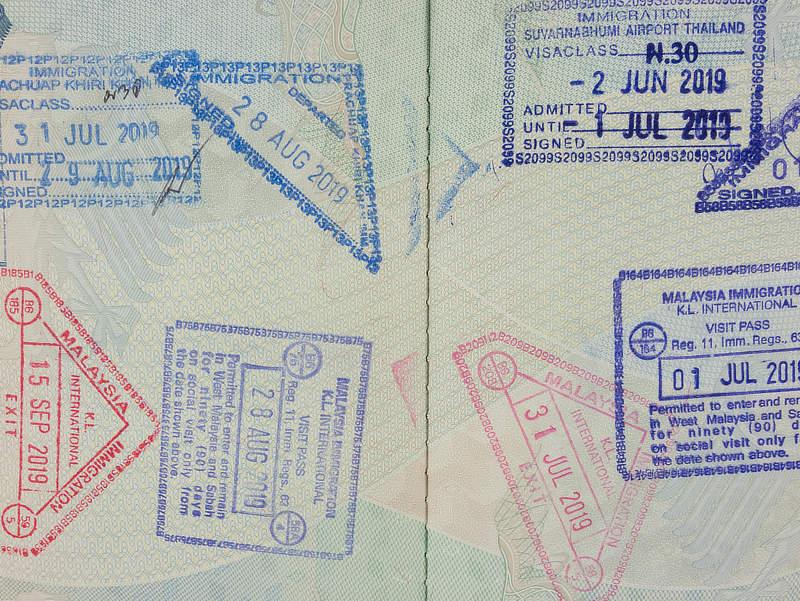 Visa Stempel im Reisepass