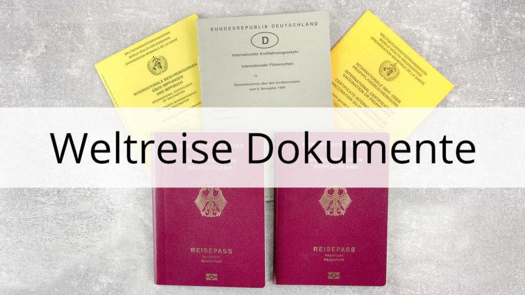 Weltreise Dokumente Übersicht Thumbnail