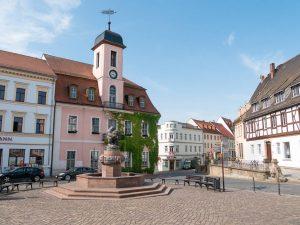 Marktplatz mit Ringelnatzbrunnen