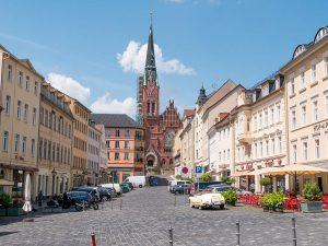 Altenburg Marktplatz mit Brüderkirche
