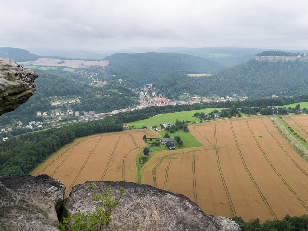 Ausblick von Lilienstein Westecke