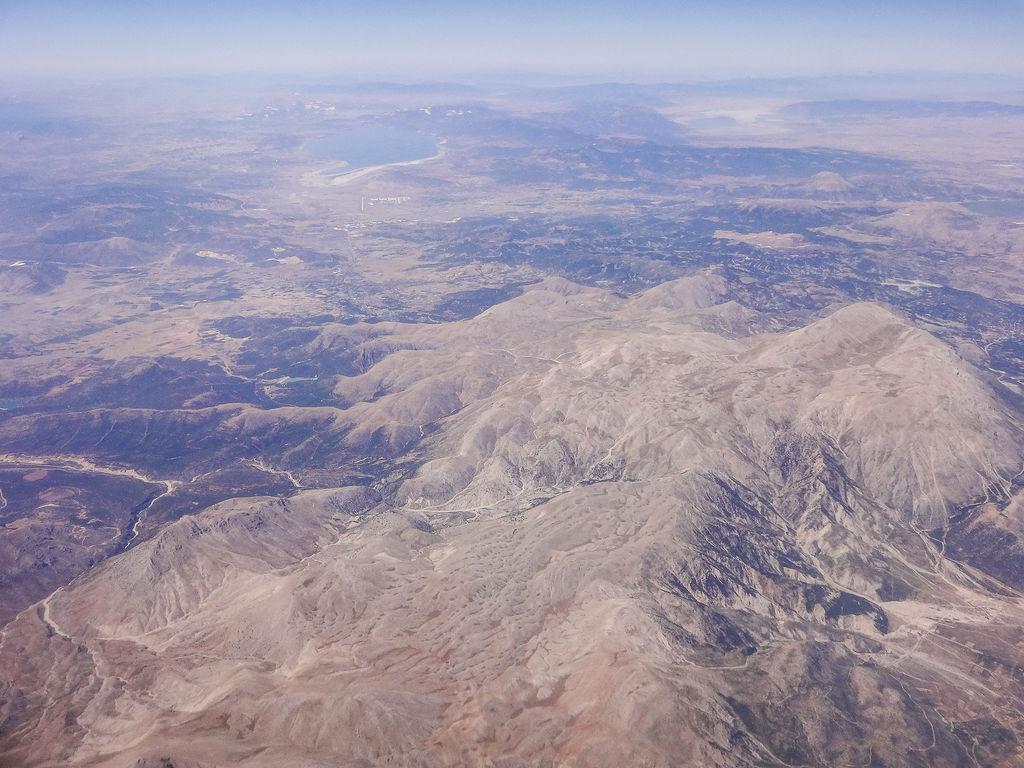 Ausblick aus dem Flugzeug