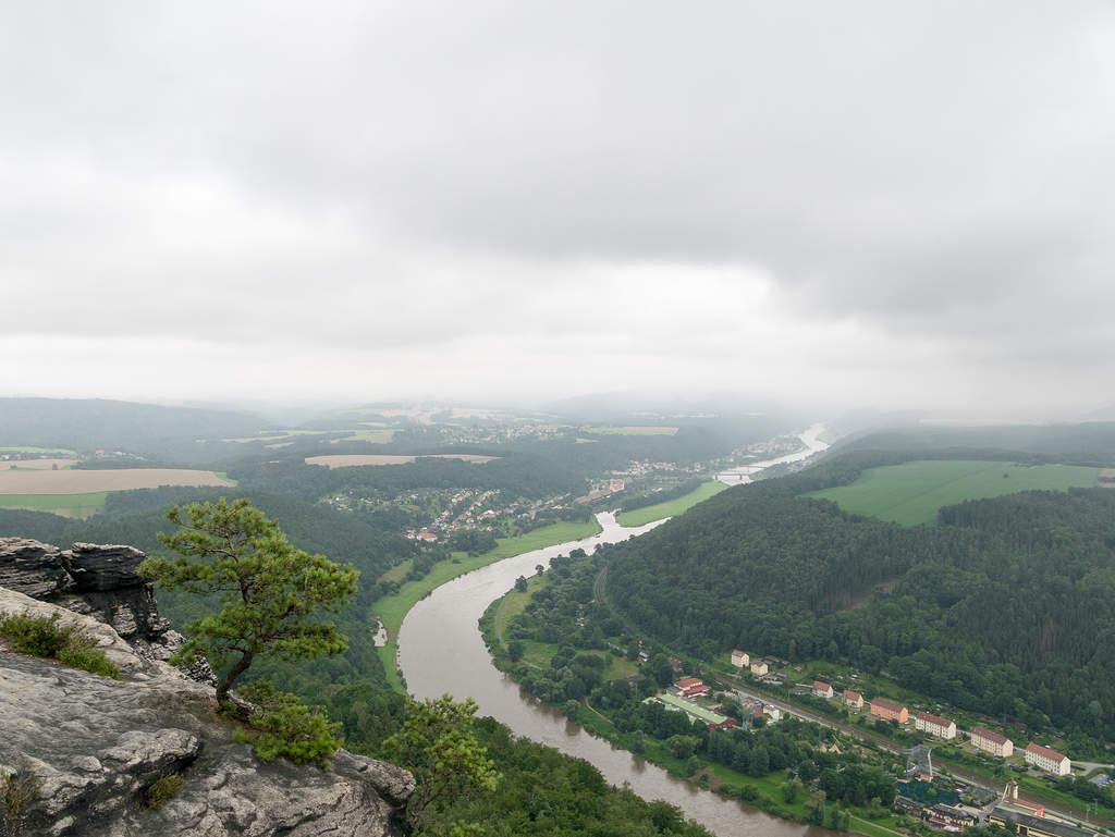 Ausblick auf Bad Schandau