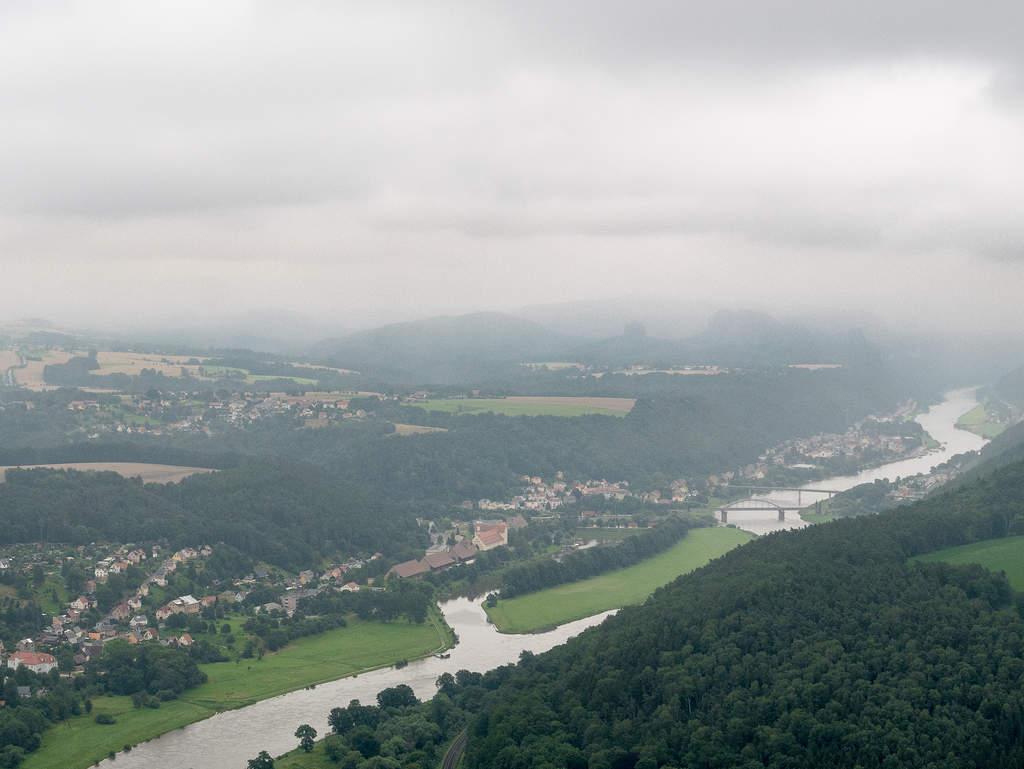 Aussicht auf Elbe