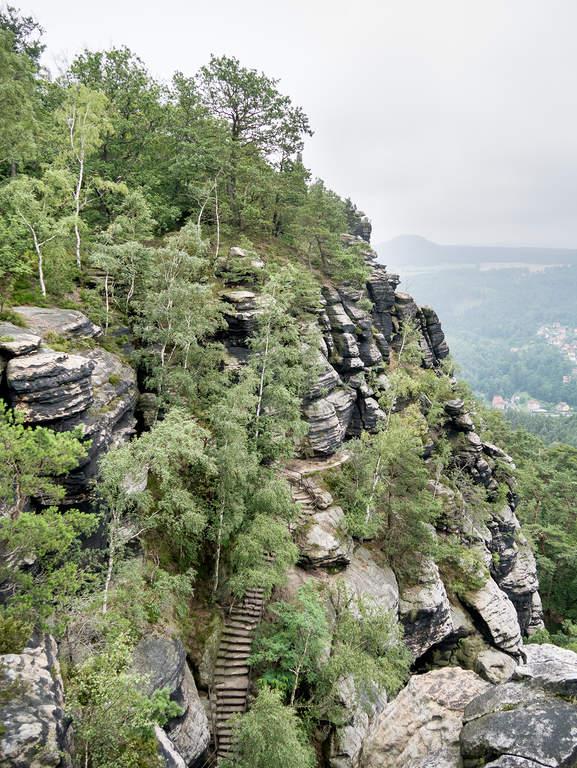 Blick auf Südaufstieg