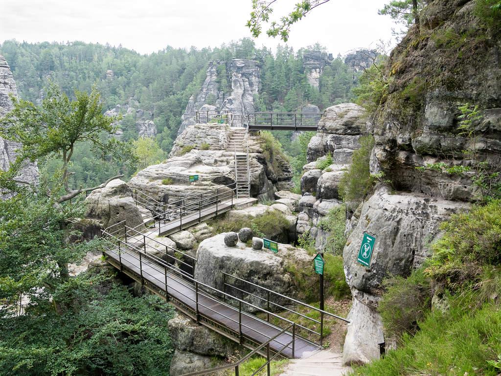 Felsenburg Neurathen auf der Bastei - Eingang